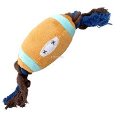 2 Colors Cute Cotton Rope Football Design Pet Dog Squeaker Toys Fit For Puppy