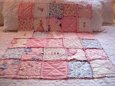 BABY Ballet ballerina dance fabric rag quilt by quiltsbringsmiles