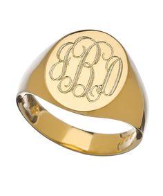 Sarah Chloe Lana Oval Signet Ring