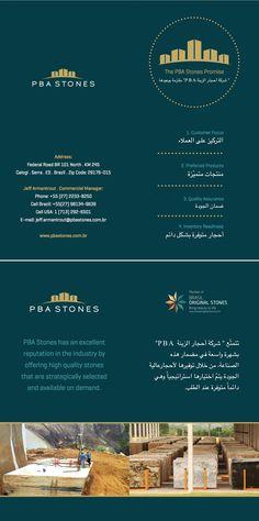Folder para Feira de Granito em Dubai