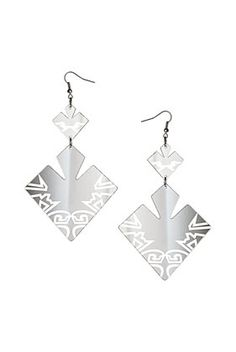 Geo Cut Out Drop Earrings