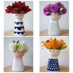 Cute ceramic vases by Vanessa Bean