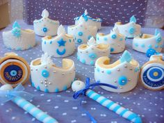 The Most Beautiful Circumcision Cookies Models and Prices - Kekse Ideen Cupcake Cookies, Cupcake Toppers, Baby Batman, Cake Topper Tutorial, Toddler Rooms, Boy Birthday Parties, Decoration, Fondant, Most Beautiful