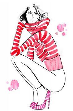 Kerrie Hess #fashion #illustration #fashionillustration