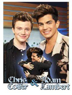 Adam Lambert and Chris Colfer