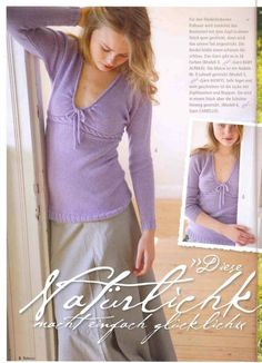 Beautiful pullover that would be lovely to knit.