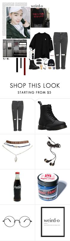 """""""Weird·o"""" by fantasy-lover-0719 ❤ liked on Polyvore featuring Topshop, Dr. Martens, Wet Seal, Oris, Forever 21 and Manic Panic NYC"""