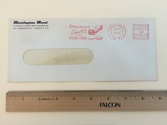 """Item: fc_19570620_3 Advertising cover approx. 3 3/4"""" x  8 ¾"""" (window envelope) Condition: very good –  yellowing due to age   Remington Rand Division of Sperry Rand Corporation 465 Washington St. Buffalo 3, N.Y.  Postage Meter: BUFFALO JUN 20 1957 N.Y. U.S. POSTAGE AMOUNT .03 PAID P.B. METER 56059 Slogan Cancel: Film-a-record Saves 98% of YOUR FILING SPACE"""