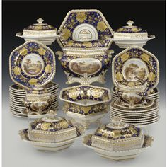 Worcester, Flight and Barr, PART OF A WORCESTER PORCELAIN TABLE SERVICE, CIRCA 1815; Sotheby's