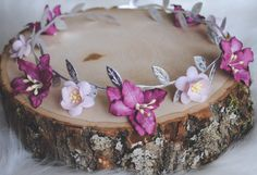 EMERY FLOWER CROWN, flower gril, flower child, pink flower crown, berry flower crown, baby headband