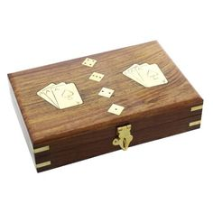 Wooden Cards And Dice Set - Sugarloaf Engraved Plates, Unusual Gifts, Classic Collection, Dice, Wooden Boxes, Laser Engraving, Poker, Fathers Day, Personalized Gifts