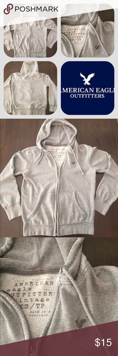 Gray American Eagle Hoodie Pre-owned, Size is XS. No stains, rips, or malfunctions. American Eagle Outfitters Tops Sweatshirts & Hoodies