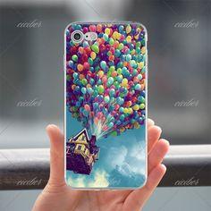 Love Romantic hot air balloon Print soft silicon Phone cases cover For iPhone 6 6S 7 plus 5S SE Capinha Coque fundas capa