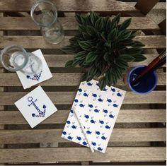 """#DIY Getränkeuntersetzer - gezaubert von by Marlene aus ihrem #Design """"Anker"""" mit #Fliesenaufklebern   creatisto"""