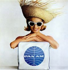 From a Pan Am ad. A popular airline till they went under in the 90s