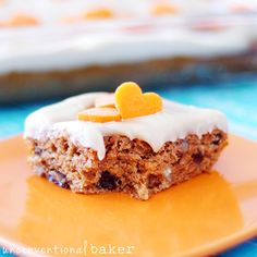 """""""Healthified"""" Carrot Cake {Gluten-Free, Vegan, Refined Sugar-Free} Just sub coconut, almond and garbanzo bean flours Sugar Free Carrot Cake, Vegan Carrot Cakes, Sugar Free Desserts, Gluten Free Desserts, Easy Desserts, Vegan Cake, Delicious Desserts, Allergy Free Recipes, Sugar Free Recipes"""