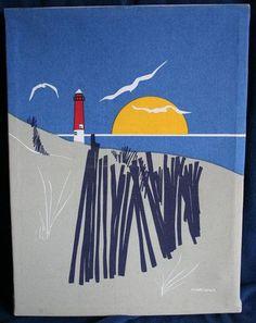 Marushka Prints for Sale   Vintage Marushka Lighthouse Canvas Silkscreen Print