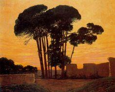 Santiago Rusiñol (Esp. 1861-1931), Paseo de pinos (Aranjuez), huile sur toile