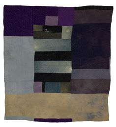 Gee's Bend Quilt - Blocks and strips work-clothes by Martha Jane Pettway (1898-2003), 1920s