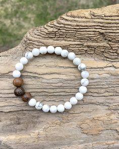 Calming Howlite Gemstone Minimalist Bracelet Unisex Gemstone