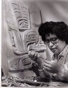 Ellen Neel (1916–1966) was a Kwakwaka'wakw artist woodcarver and is the first woman known to have professionally carved totem poles.[1][2] She came from Alert Bay, British Columbia, and her work is in public collections throughout the world.