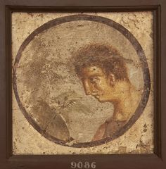 Medallion with male profile. Inv. No. 9086. Naples, National Archaeological Museum