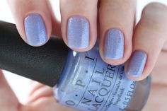 OPI New Orleans Show Us Your Tips! Purple Shimmer Glitter Nail Polish - Summer Nails