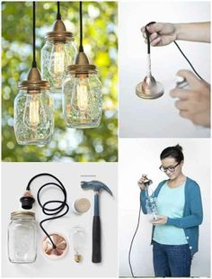 Bring Light Into Your Garden Using Jars