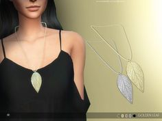Sims 4 CC's - The Best: Golden Leaf Necklace by serenity-cc