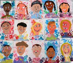 In the Art Room: I Ain't Gonna Paint No More Portraits (Cassie Stephens) Kindergarten Self Portraits, Kindergarten Art, First Grade Art, 2nd Grade Art, Grade 2, Classroom Art Projects, Art Classroom, Diy Projects, Self Portrait Art
