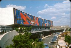 JFK Airport, American Airlines Terminal 8 Huge stained glass mural, 1963