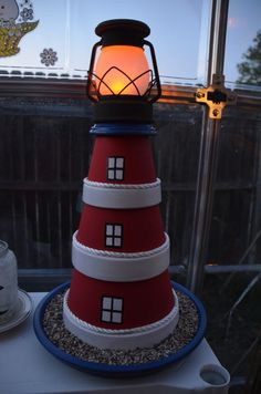 Clay Pot Light House at dusk https://www.facebook.com/photo.php?fbid=251920341613648=a.219666824839000.51980.218838764921806=1