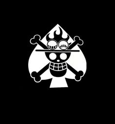 One Piece Jolly Roger Ace Spade Window Decal Sticker – Custom Sticker Shop One Piece Logo, One Piece Tattoos, One Piece Ace, One Piece Comic, One Piece Japan, Sons Of Anarchy Mc, Ace Tattoo, Cool Symbols, One Piece Wallpaper Iphone