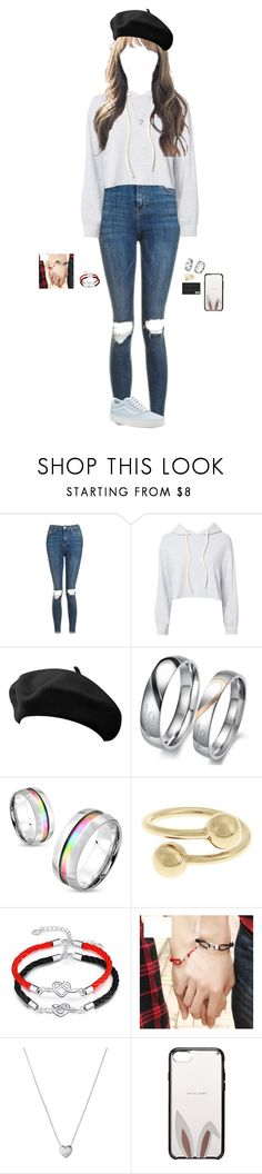 """Heading out~Luna"" by luna-from-dna ❤ liked on Polyvore featuring Topshop, Monrow, West Coast Jewelry, J.W. Anderson, Links of London, Kate Spade and Vans"