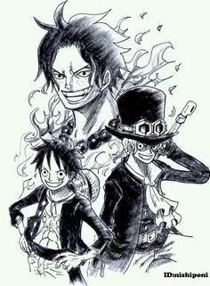 Ace Tattoo One Piece, Ace One Piece, One Piece Luffy, One Piece Photos, One Piece Manga, One Piece Drawing, Tatuagem One Piece, One Piece Seasons, One Piece Zeichnung