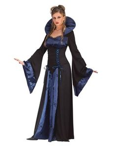 The royal blue is pretty. Another nice premade vampire costume.