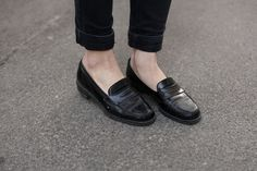<3 the black loafers