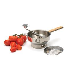 If you like to make tomato sauces, jams or jellies this is the tool for you!.  A good stainless steel foodmill with multiple plates is invaluable.  Love this Stainless Steel Food Mill on #zulily! #zulilyfinds