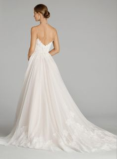 Alvina Valenta ivory a-line wedding dress with shimmer detail