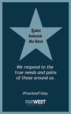 Listen between the lines