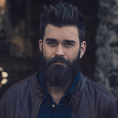 50 Layered Haircuts for Men - Men Hairstyles World Long Beard Styles, Hair And Beard Styles, Curly Hair Styles, Moustache, Beard No Mustache, Combover Hairstyles, Hair Men Style, Beard Boy, Epic Beard