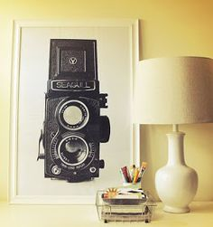 Vintage DIY wall art. Free camera print download!