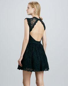 not so sweet... alexis vendela open-back lace dress
