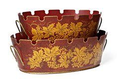 One Kings Lane - Traditional Treasures - Montieth Bins, Set of 2