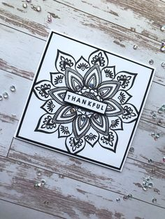 Mandala Maker by Gina K; Penny Black, Miss You Cards, Thank You Cards, Magenta, Stamp Tv, Circle Pattern, Card Sketches, Color Card, Flower Cards