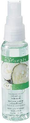 Brand New Avon Naturals Cucumber Melon Refreshing Mini Body Spray - Purse Size