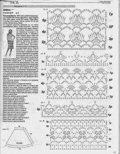 Falda diferentes puntos de crochet - Patrones Crochet