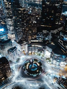 Columbus Circle at night by Humzadeas by newyorkcityfeelings.com - The Best Photos and Videos of New York City including the Statue of Liberty Brooklyn Bridge Central Park Empire State Building Chrysler Building and other popular New York places and attractions.