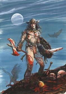 Barry Windsor-Smith Conan unpublished cover