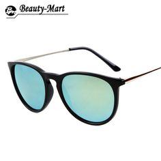 f81dc035a2 זול ציפוי חדש 2015 אופנה משקפי שמש נשים מעצב מותג בציר משקפיים עגולים  חיצוני רטרו gafas